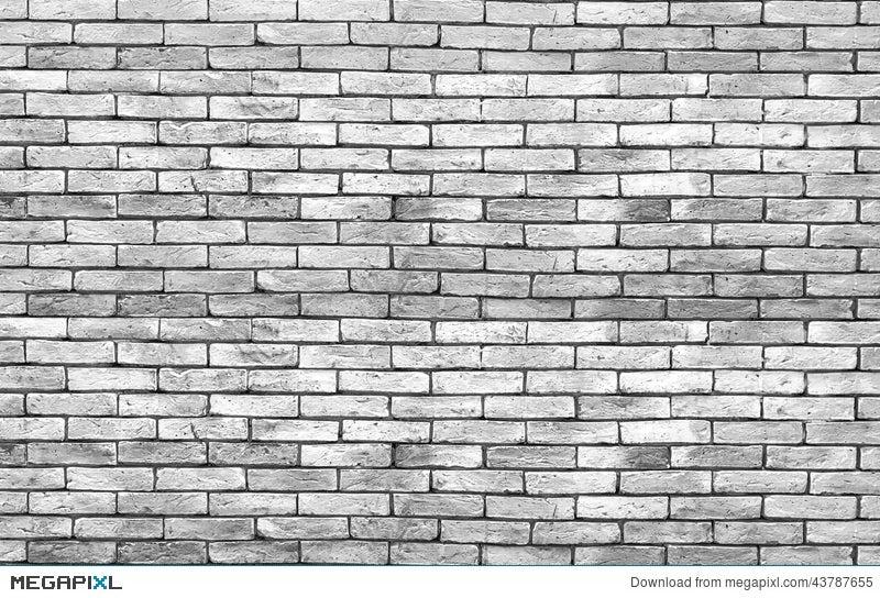 High Resolution Low Key Grunge Brick Wall Background Stock Photo