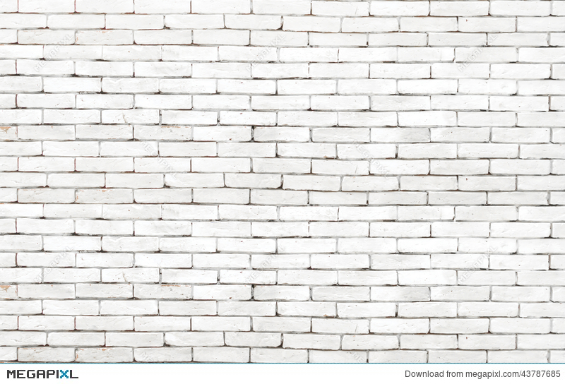 High Resolution White Grunge Brick Wall Background Stock Photo 43787685 Megapixl