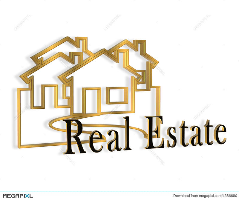 3D Real Estate Logo Illustration 4386680 - Megapixl