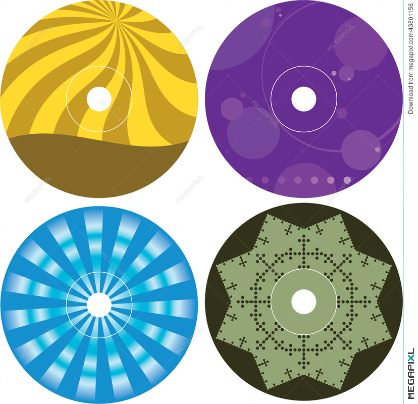 Cd  Dvd Label Design Template Illustration   Megapixl