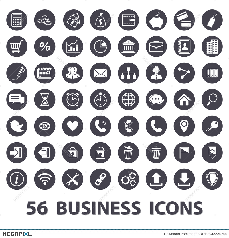 business icons set illustration 43830700 megapixl