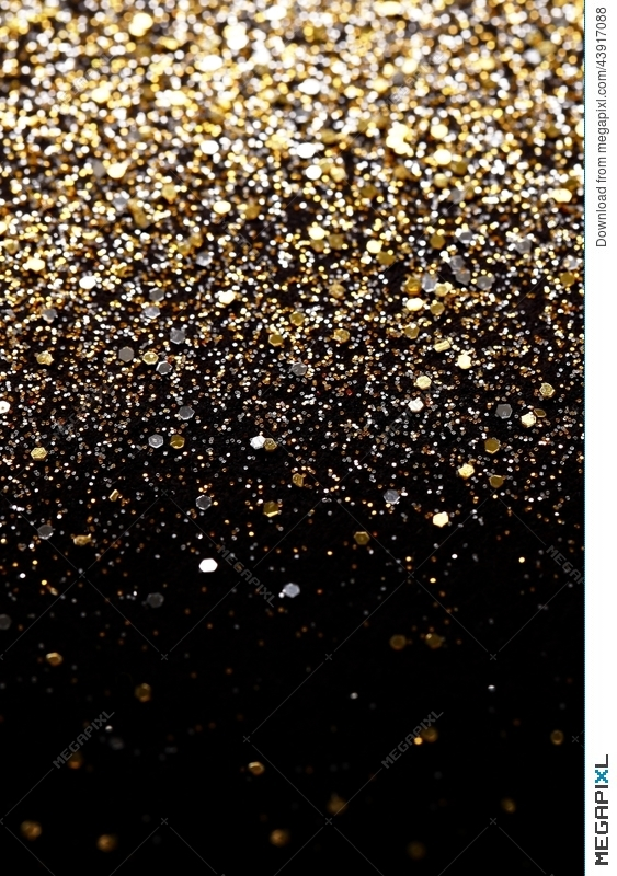 a5758a437f3 Christmas New Year Black and Gold Glitter background. Holiday abstract  texture fabric