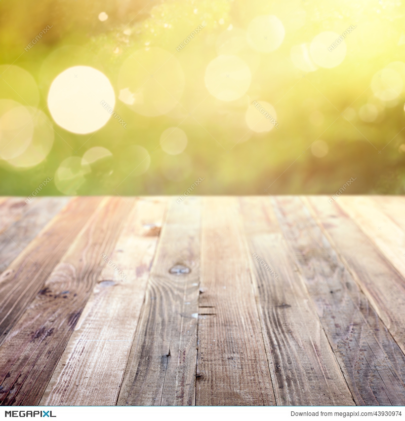 Spring Rustic Template Background With Bokeh