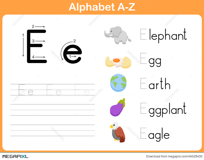 Alphabet Tracing Worksheet Illustration 44028430 Megapixl – Alphabet Writing Worksheet