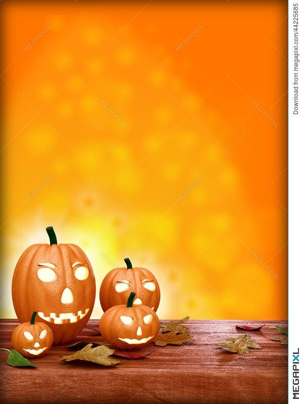 halloween flyer design template with pumpkin illustration 44225685