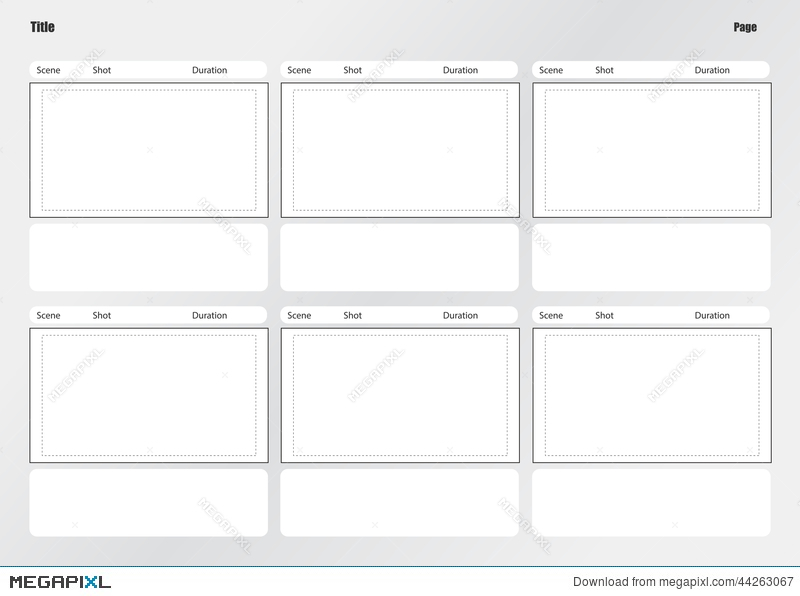Professional Of Film Storyboard Template Illustration 44263067
