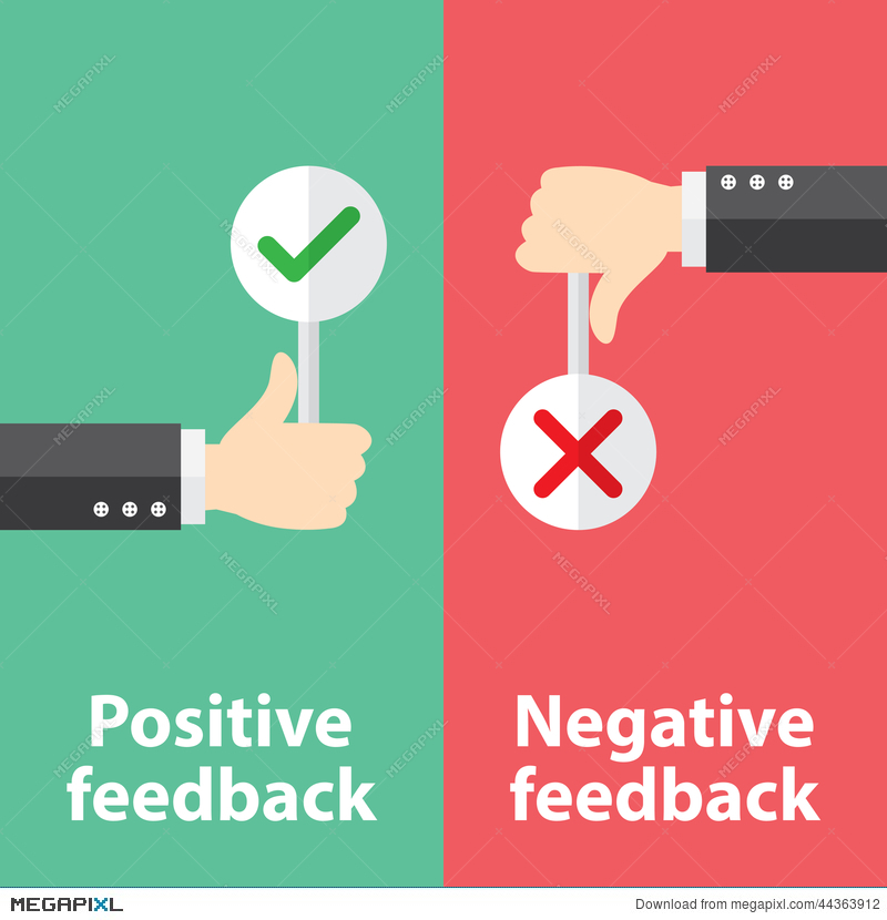 Positive And Negative Feedback Illustration 44363912 - Megapixl