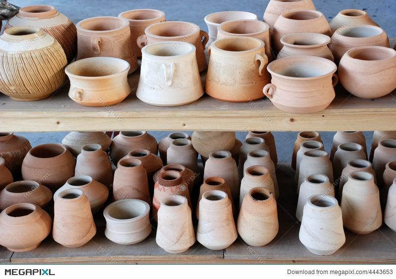 Pottery Pots And Vases Stock Photo 4443653 Megapixl