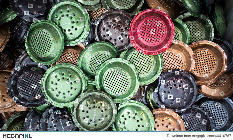 used nespresso coffee capsules stock photo 44410767 megapixl