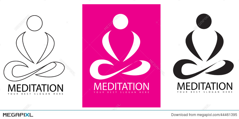 meditation yoga logo illustration 44461395 megapixl