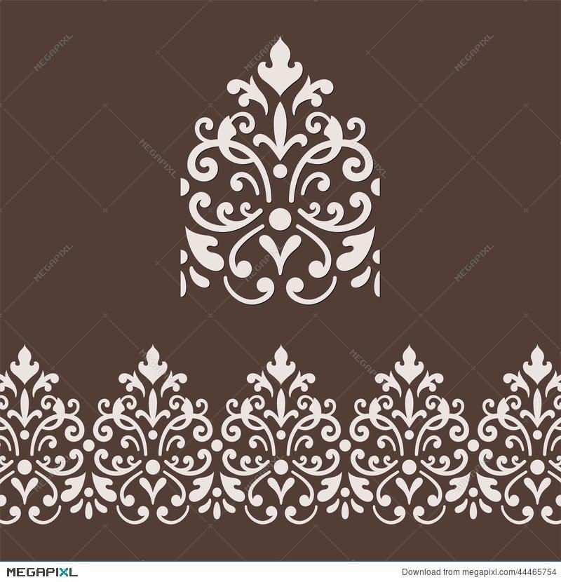 Damask Border Frame Illustration 44465754 - Megapixl