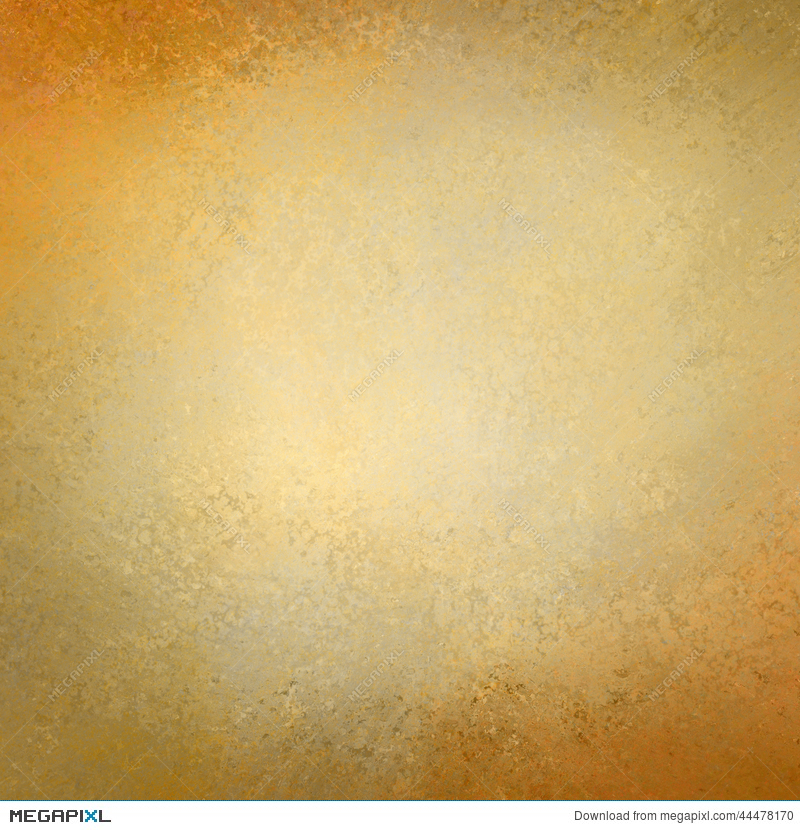 Solid Gold Background Paper With Vintage Grunge Texture Design