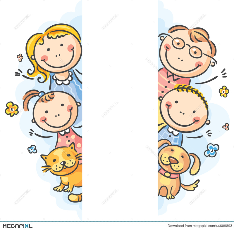 Family Frame Borders Illustration 44609893