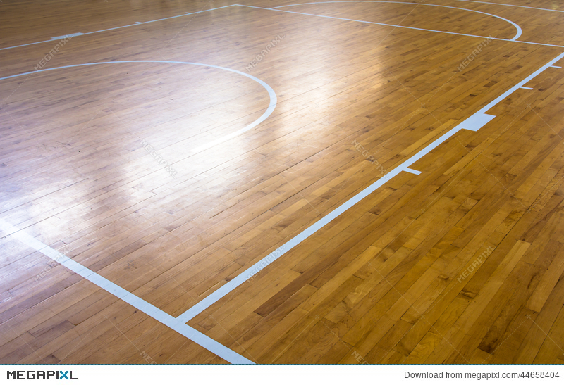 Wooden Floor Basketball Court Stock Photo 44658404 Megapixl