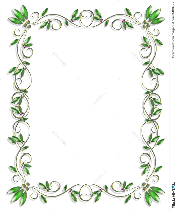 Border Design Element Green 3 Illustration 4489477 - Megapixl