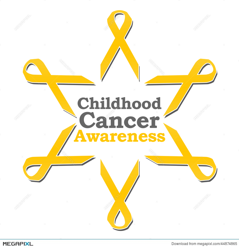 Childhood Cancer Awareness Ribbon Circle Illustration 44874865