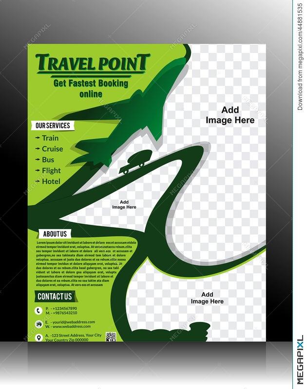 Travel Flyer Template Illustration 44881535 Megapixl