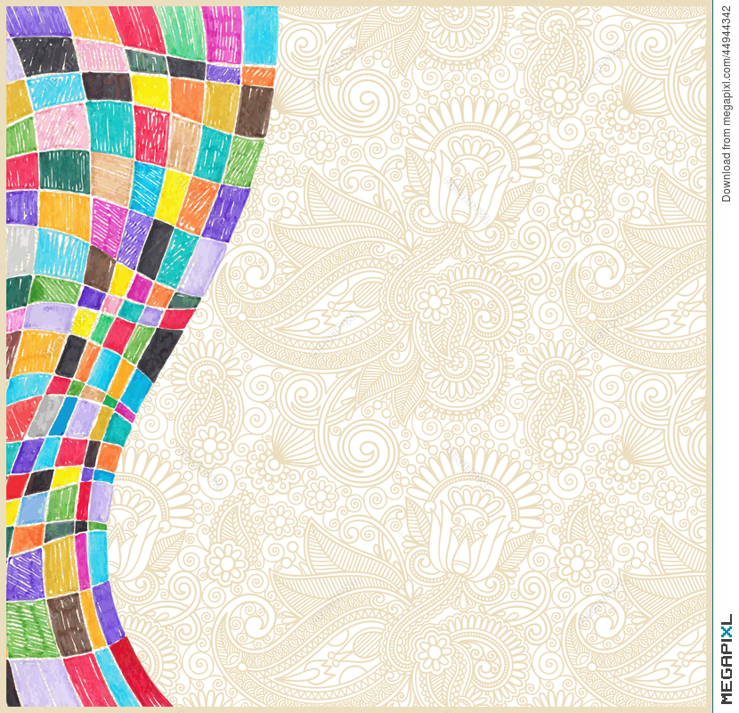 Doodle Marker Drawing Abstract Background Design Illustration