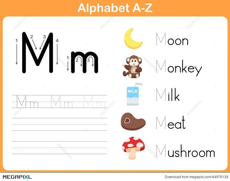 Printable Worksheets free alphabet tracing worksheets a to z : Alphabet Tracing Worksheet: Writing A-Z Illustration 44976139 ...