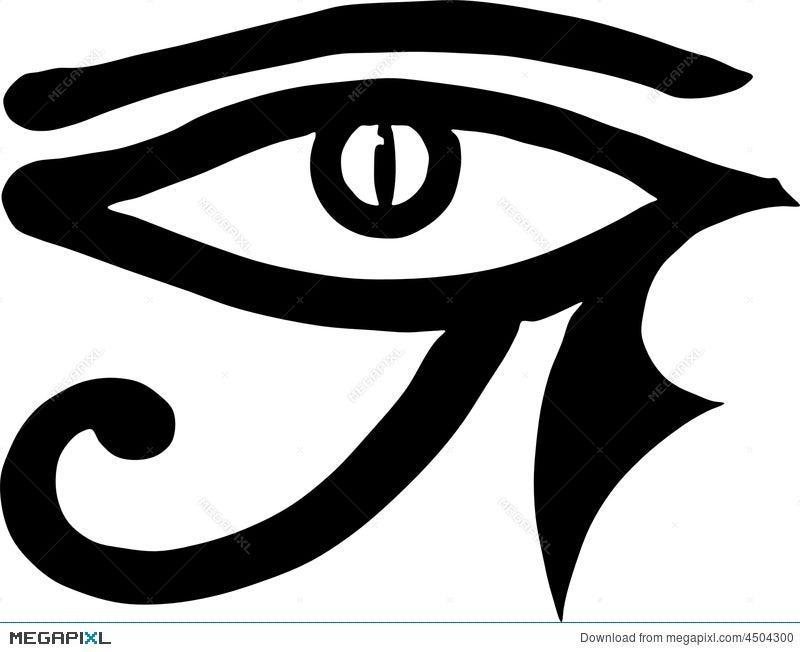 Eye Of Horus Egyptian Symbol Illustration 4504300 Megapixl