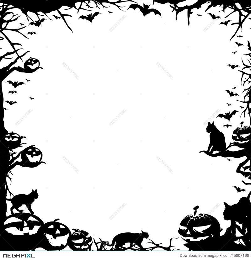 Halloween Frame Border Isolated On White Illustration 45007160 ...