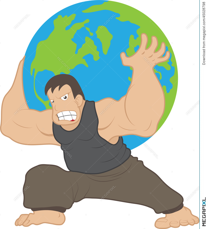 atlas carrying earth illustration 45028798 megapixl