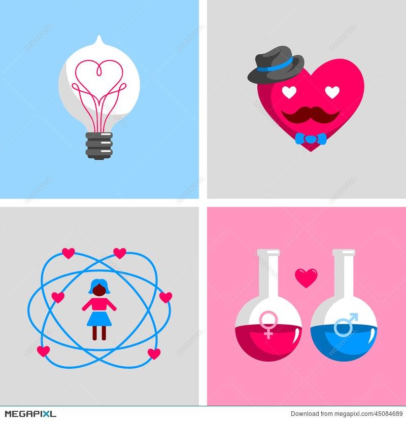 Love Signs And Symbols Illustration 45084689 Megapixl