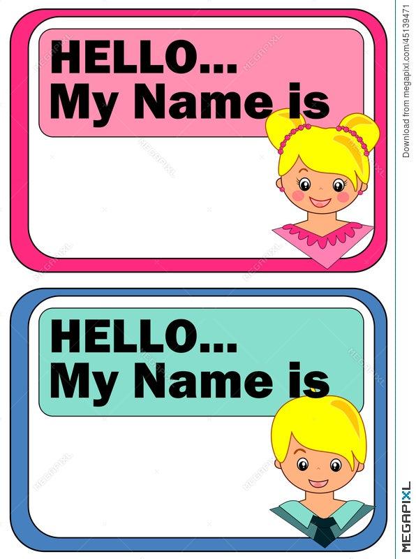 name tags for kids illustration 45139471 megapixl