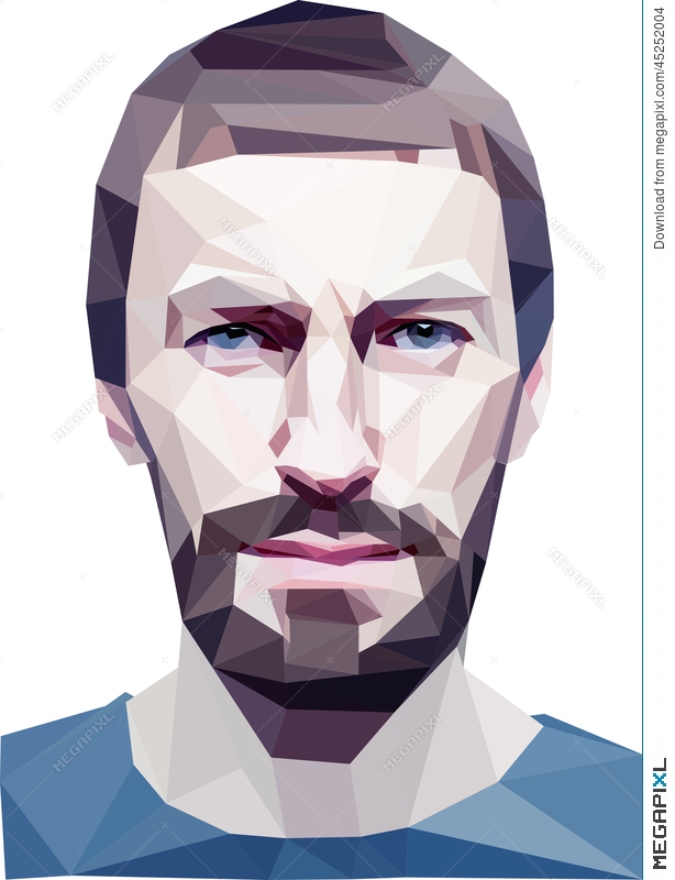 Low Poly Human Head Illustration 45252004 - Megapixl