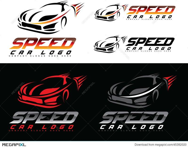 Speed Car Logo Illustration 45382020 Megapixl