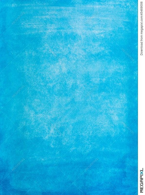 Vintage Blue Watercolor Paper Texture Stock Photo 45469006