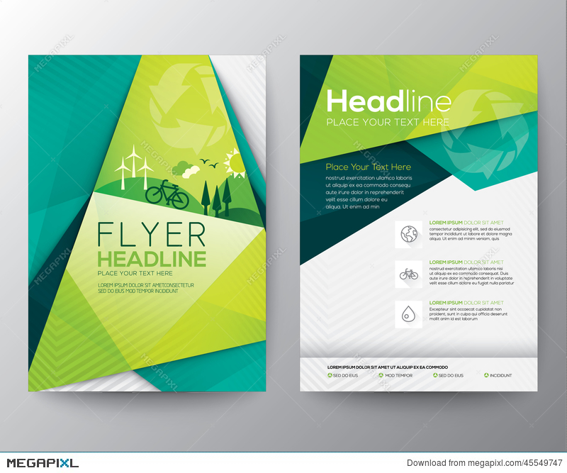 Abstract Triangle Flyer Design Template Illustration 45549747 Megapixl