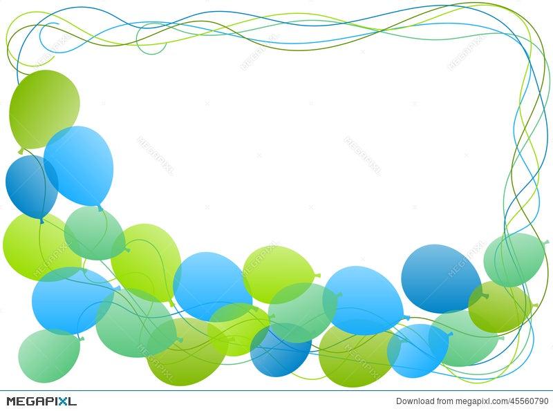 Balloons frame border greeting card illustration 45560790 megapixl balloons frame border greeting card m4hsunfo