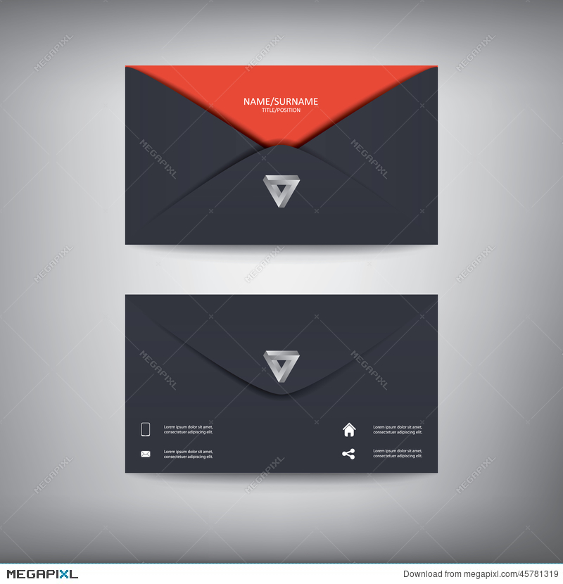 Modern Creative Business Card Template In Envelope Illustration ...