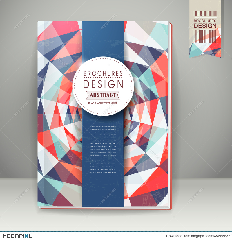 Colorful Geometric Background Design For Book Cover Illustration ...