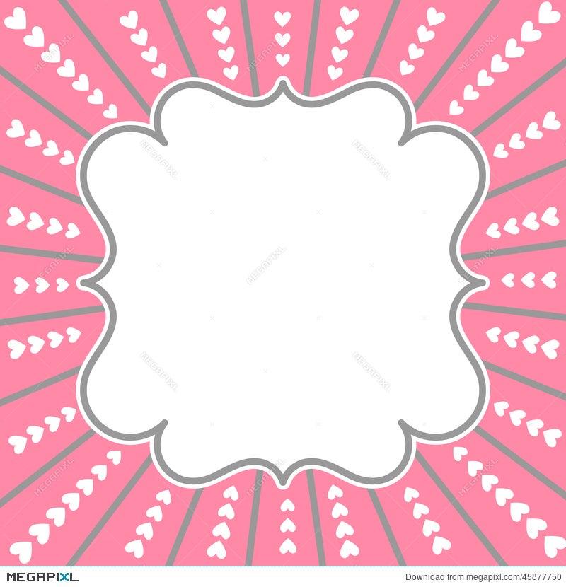 Valentines Day Card Border Frame Illustration 45877750 Megapixl