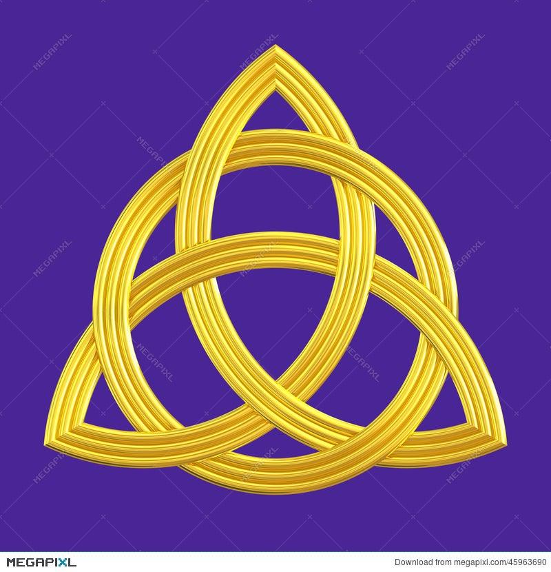 Trinity Knot Gold Triquetra Symbol Illustration 45963690 Megapixl