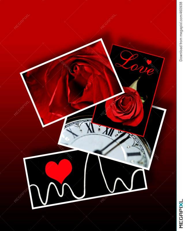 Signs And Symbols Of Love Valentines Romance Illustration 460938