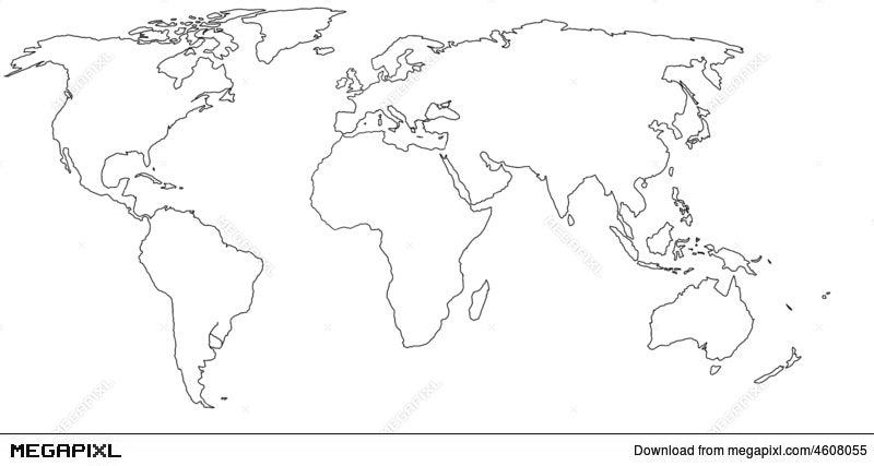 Empty world map illustration 4608055 megapixl empty world map gumiabroncs Images