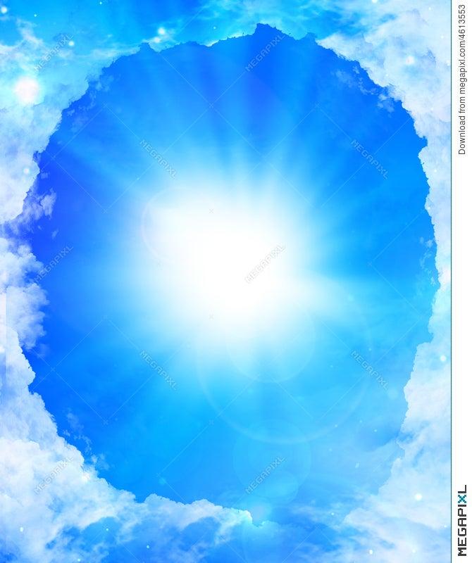 Cloud Frame With Sunlight Illustration 4613553 - Megapixl