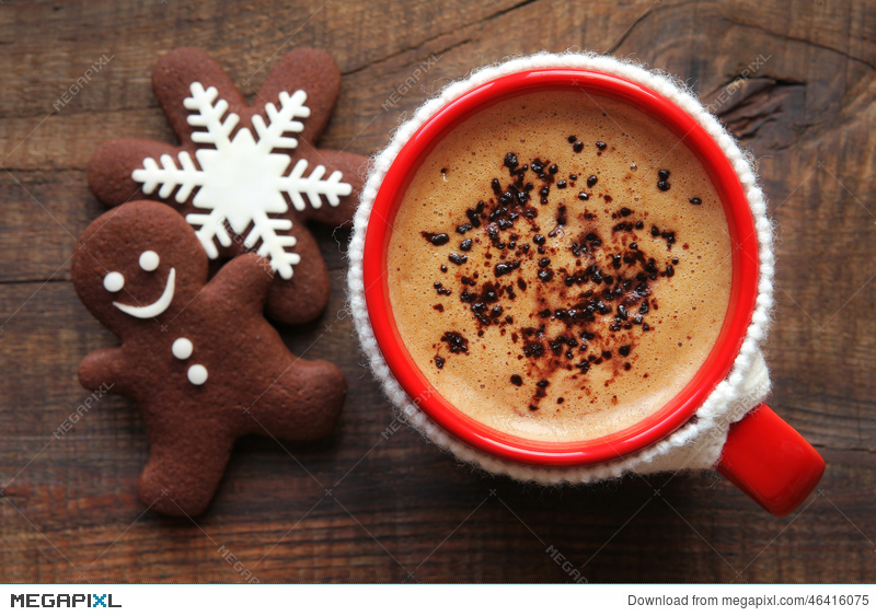 Coffee Christmas Morning.Christmas Morning Coffee And Cookies Stock Photo 46416075