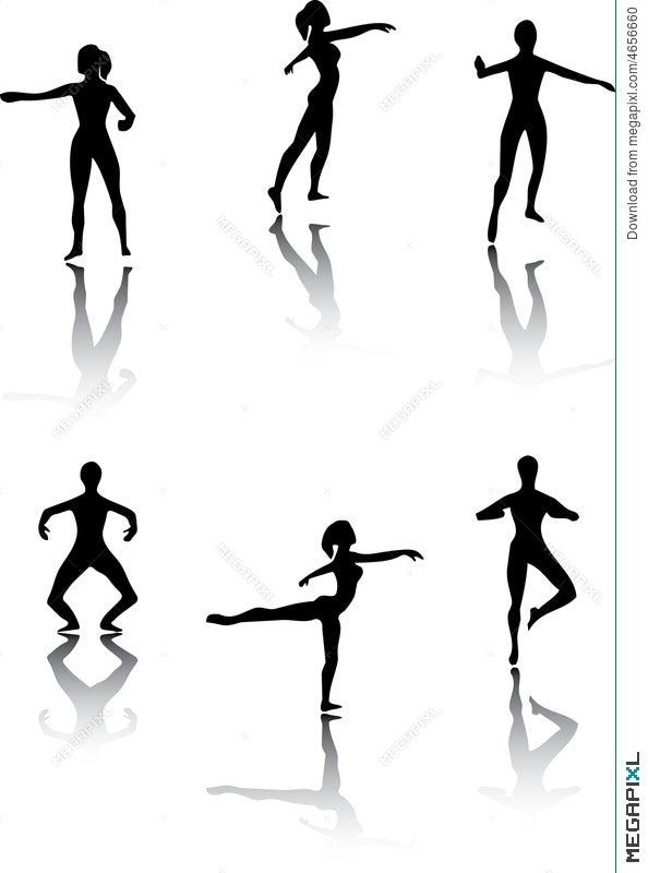 Ballet Poses Illustration 4656660 Megapixl