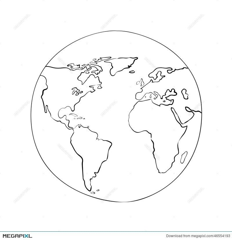 Sketch globe world map black vector illustration illustration sketch globe world map black vector illustration gumiabroncs Gallery