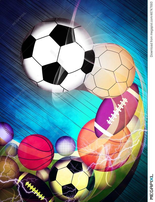 Sport Balls Background Illustration 46747693