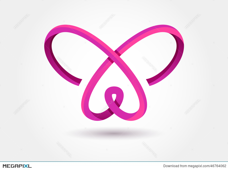 Abstract Infinity Butterfly Symbol Vector Logo Template Design