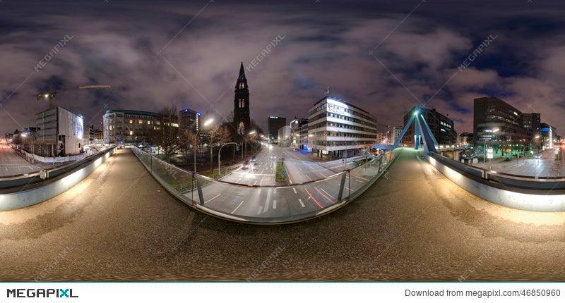 Hamburg 360 Degree Panorama Street View Stock Photo 46850960