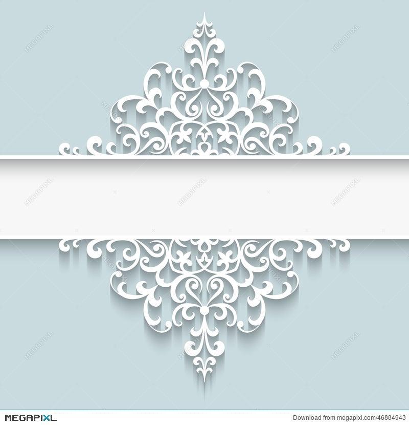 Paper Lace Divider Frame Illustration 46884943 - Megapixl