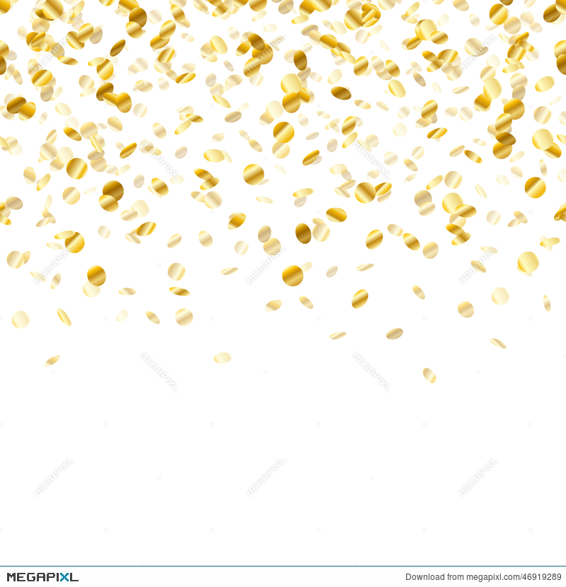 Golden Confetti Background  Seamless Horizontal