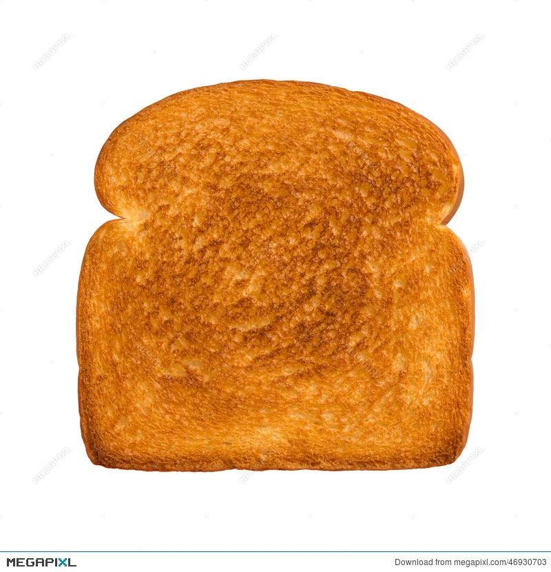 toasted slice of white bread stock photo 46930703 megapixl