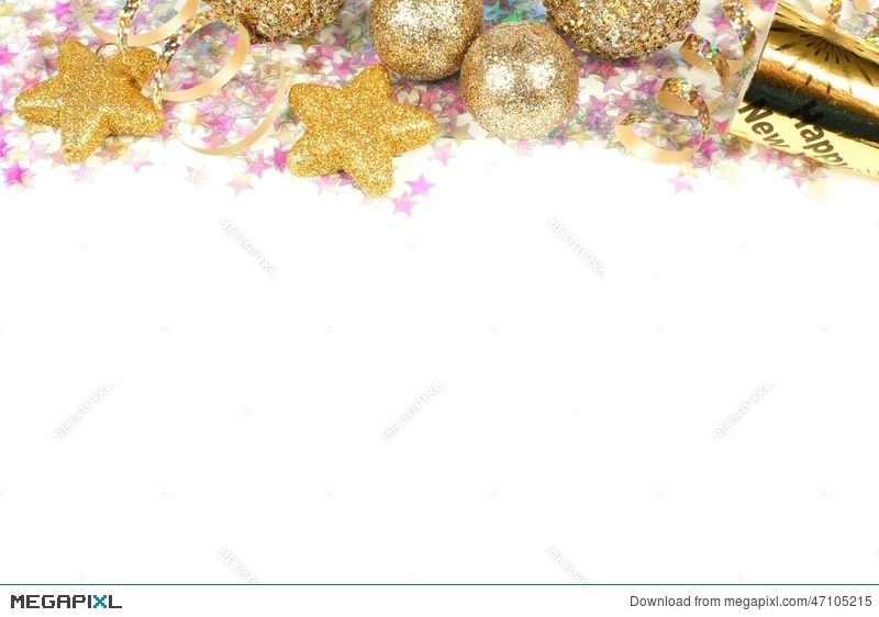 new years eve border isolated